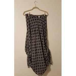NWT Eva Franco Dark Blue Boho Tie Up Skirt